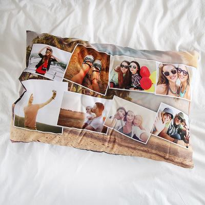 Federe con collage fotografico