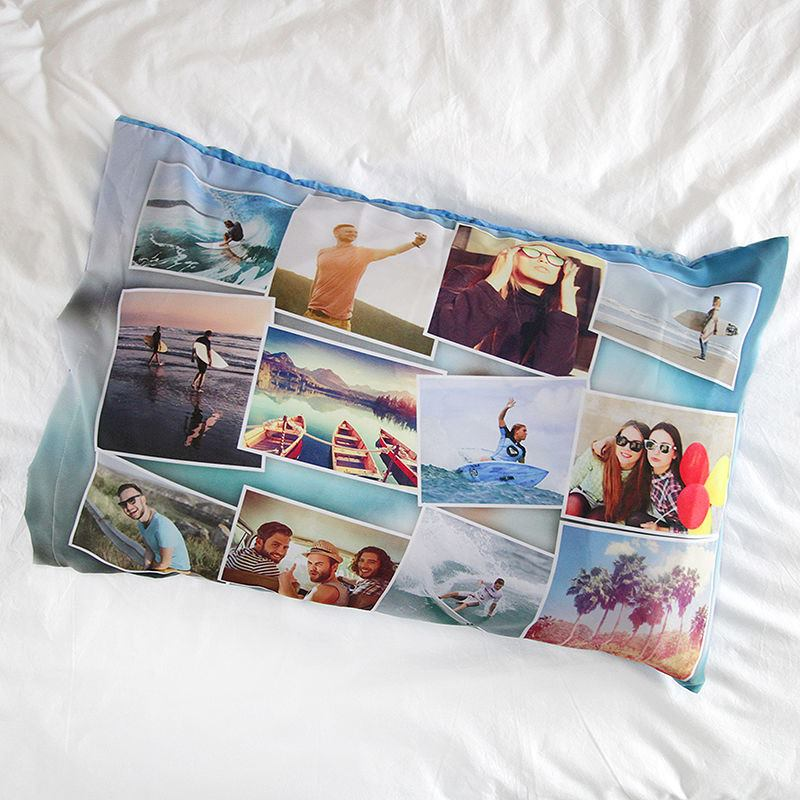 Custom Pillow Cases With Photo Or Collage Design Your Own Pillow Case