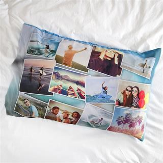 Taie d'oreiller imprimée montage photo