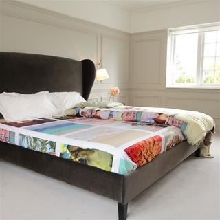 drap imprimé pour linge de lit personnalisé