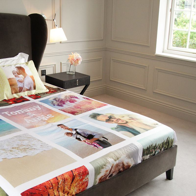 Personalised bed sheets uk design print your own for Design your own bed