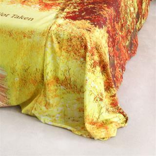 personalised bed photo print drape