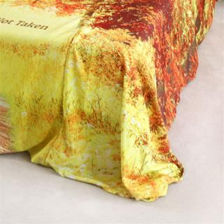 personalised  bedding photo print drape