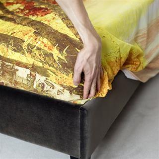 Parure de lit personnalisée avec photos arbres