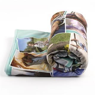 coperta con foto in pile