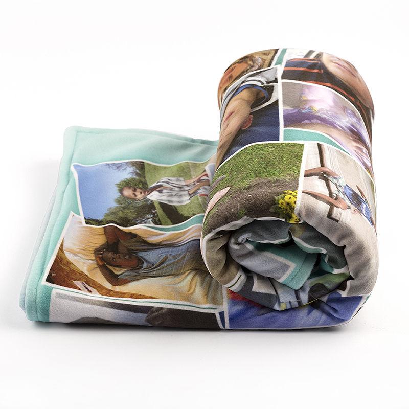 Fotodecke Collage erstellen   Decke mit eigenen Fotos bedrucken