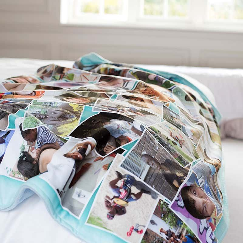 Photo Blankets Personalised Fleece Blanket With Photos On