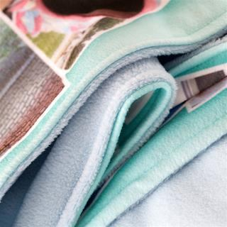 Personalised blanket UK folds