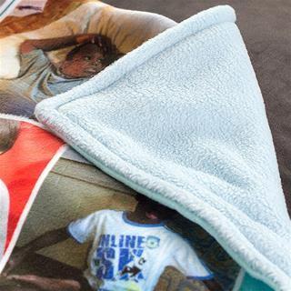 Details Fotodecke aus Fleece mit eigenen Fotos oder Collagen