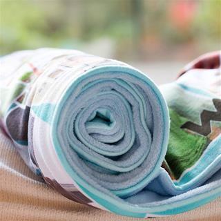 Custom Printed Blankets roll detail