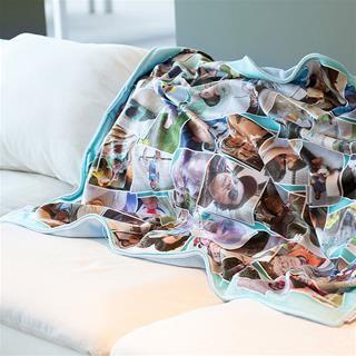 printed blanket fleece montage