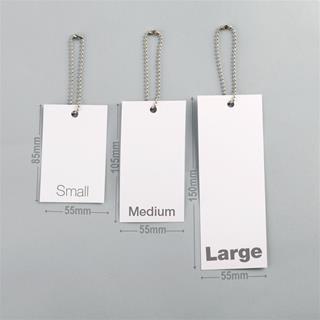 Tailles des étiquettes personnalisées