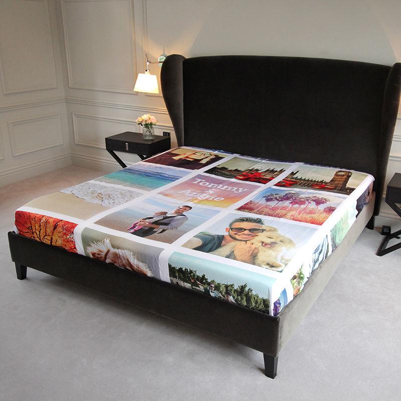 drap personnalis vos photos sur du linge de lit personnalis. Black Bedroom Furniture Sets. Home Design Ideas