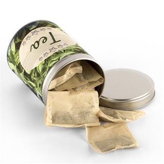 Tea bag tins personalised