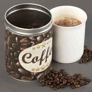 Coffee Bean Cylinder tin