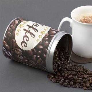 coffee tin personalised printed