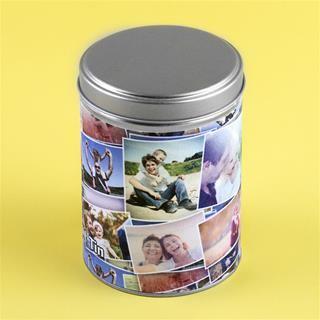 Family photo printed kitchen tins
