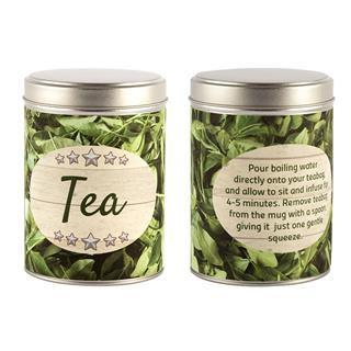 Tea bag tin with your message