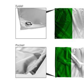 drapeau personnalisé œillets ou passe-hampe