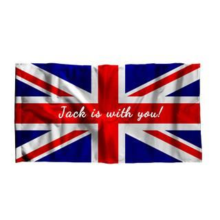 custom made British flag with text and name