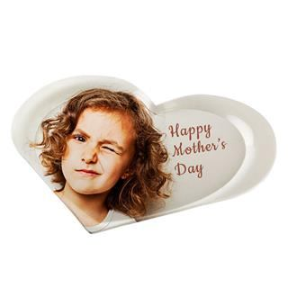 heart shaped tray with photo