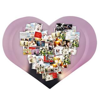 montage heart shaped tray