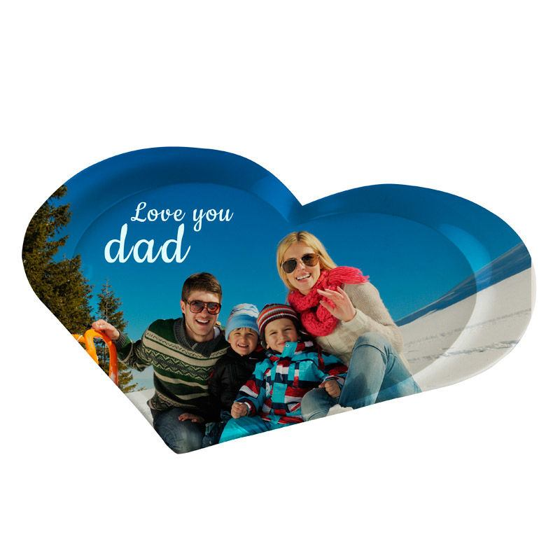 custom heart tray for dad