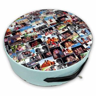 montage large round floor cushion