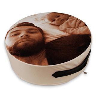 cuscino rotondo con foto personalizzato