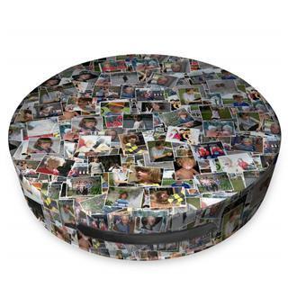 sitzkissen rund mit eigenen fotos
