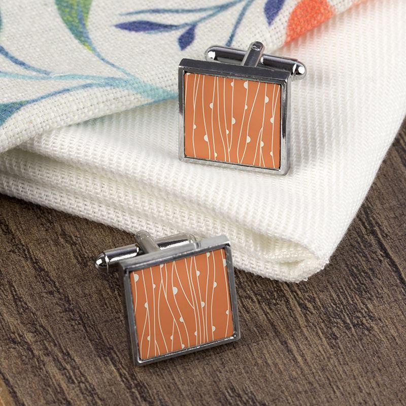 Custom Personalised Cufflinks pattern