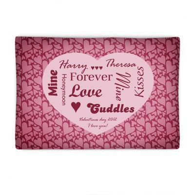 almohada de amor personalizada