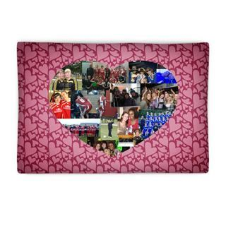 photo collage heart pillow cover