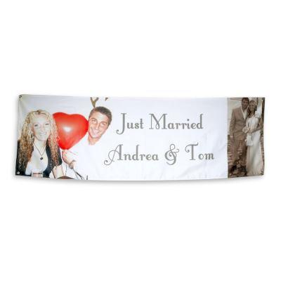bröllops banderoll med eget tryck