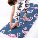 Tapis de yoga flamant rose