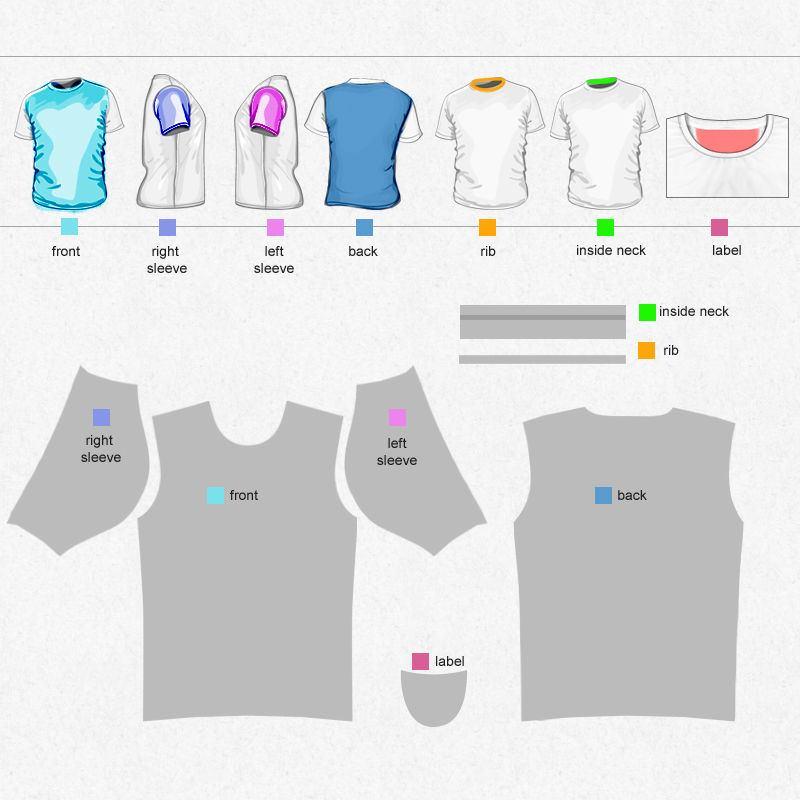 Bevorzugt Tee shirt designer coupé-cousu | Impression de qualité BH14