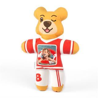 Sporty teddy photo personalised