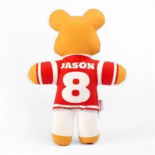 plush printed teddy bear back