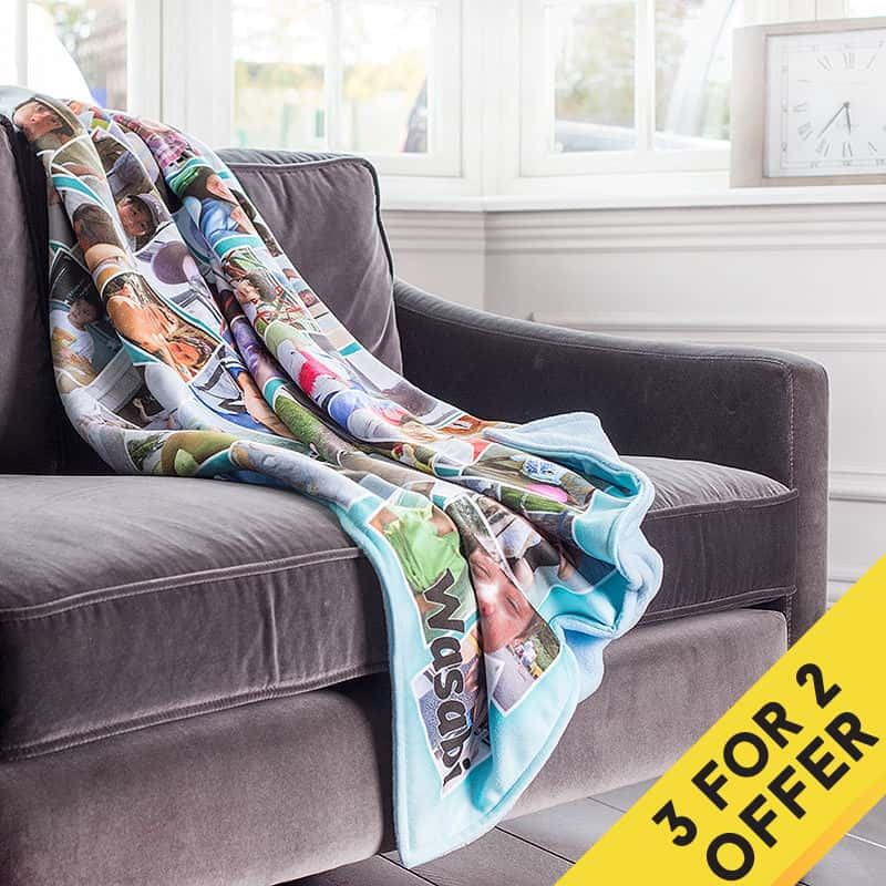 Photo Blankets Uk Create A Personalised Blanket With