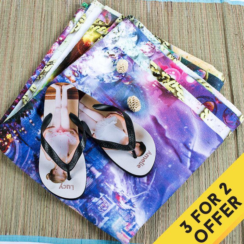 erbjudande köp 2 få 1 gratis badlakan med tryck