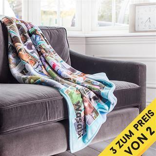 personalisierte Decke mit Foto selbst gestalten