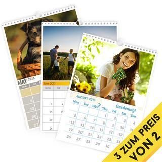 Fotokalender gestalten 3 zum Preis von 2