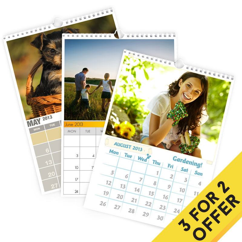 personalised photo calendars