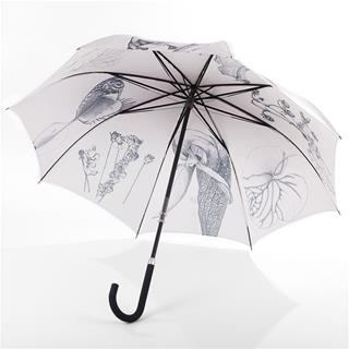 black and white printed umbrella