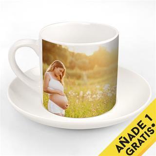 Juego taza de cafe personalizada oferta