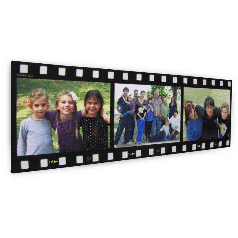 Canvastavla formad som filmremsa canvas fotocollage - Fotocollage auf leinwand drucken ...