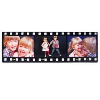 Foto montaje estilo cinta pelicula con fotos a color