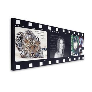 Foto montaje estilo cinta pelicula con fotos