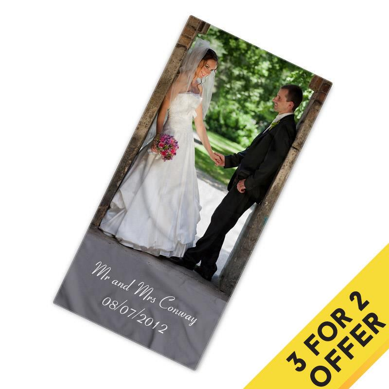 Photo towel offer 3 for 2