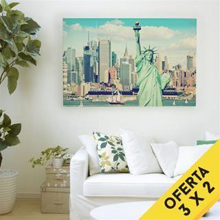 fotomontaje en lienzo para habitacion